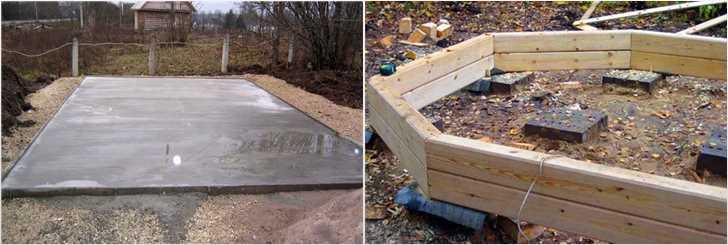 Заливка фундамента для деревянной беседки