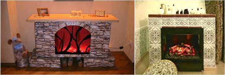 Имитация камина в квартире фото своими руками фото
