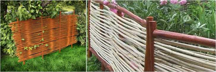 Обработка прутьев для плетеного забора