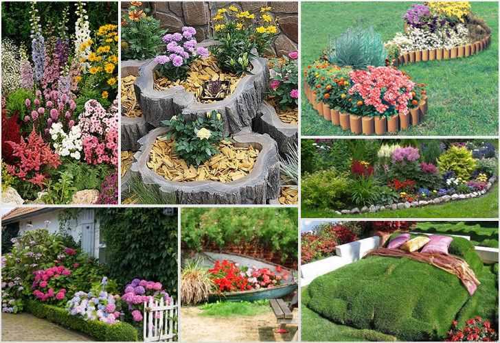 как оформить сад своими руками цветами фото