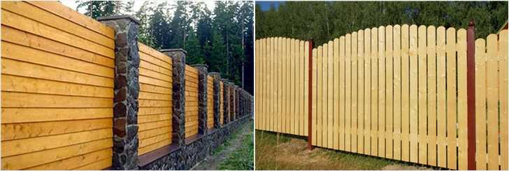 Строительство деревянного забора для дачи